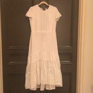 Banana Republic NWOT White Eyelet Midi Dress